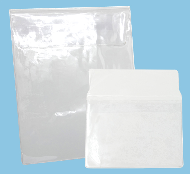 Vinyl Pouches and sleeves multimedia packaging